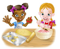 Cartoon Girl Chefs Stock Images