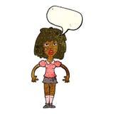 cartoon girl fight with speech bubble Stock Image