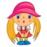 Cartoon girl. glamour beauty.  female. Character Stock Images