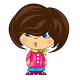 Cartoon girl. glamour beauty.  female. Character Royalty Free Stock Photography