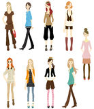 Cartoon girl icon Stock Image