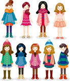 Cartoon girl icon Stock Photos