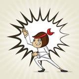 Cartoon girl for International Women's Day celebration. Royalty Free Stock Images
