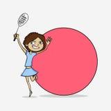 Cartoon girl for International Womens Day celebration. Royalty Free Stock Photography