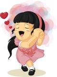 Cartoon of Girl in Love Stock Photography