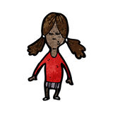 Cartoon girl with pig tails Stock Photo