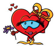 Cartoon girl's heart Stock Photo
