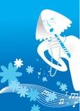 Cartoon girl singing. Vector illustration vector illustration