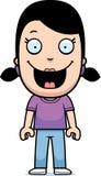 Cartoon Girl Smiling Royalty Free Stock Image