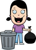 Cartoon Girl Trash Stock Photo