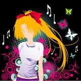Cartoon girl vector Royalty Free Stock Image