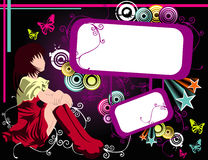Cartoon girl vector Royalty Free Stock Photography
