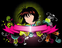 Cartoon girl vector Royalty Free Stock Photography