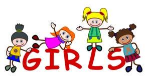 Cartoon girls Stock Photo