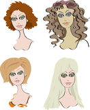 Cartoon girls Royalty Free Stock Image