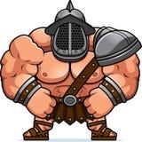 Cartoon Gladiator Flexing. A cartoon illustration of a muscular gladiator flexing Stock Photography