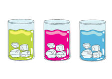 Cartoon glass. Illustration of cartoon glass of juice isolated on white Stock Image
