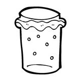 Cartoon glass of beer Stock Images