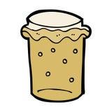 Cartoon glass of beer Stock Photo