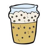Cartoon glass of beer Stock Photos