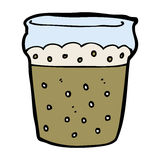 Cartoon glass of beer Royalty Free Stock Image