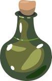 Cartoon glass bottle Royalty Free Stock Photo