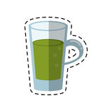 Cartoon glass cup juicy refreshment Royalty Free Stock Photography