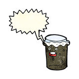 Cartoon glass of stout beer with speech bubble Stock Images