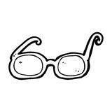 cartoon glasses Stock Image