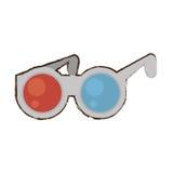 Cartoon glasses 3d cinema accessory. Illustration eps 10 Stock Image
