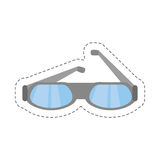 cartoon glasses eye protect modern icon Royalty Free Stock Photo