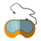 Cartoon glasses security work element shadow Royalty Free Stock Photo