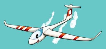 Cartoon glider Stock Image