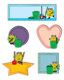 Cartoon global clean up template set Stock Images
