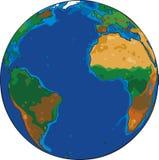 Cartoon globe Stock Image