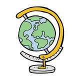 Cartoon globe Royalty Free Stock Photography