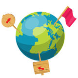 Cartoon globe illustration Royalty Free Stock Photography