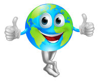 Cartoon globe mascot man Royalty Free Stock Photo