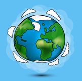 Cartoon Globe Royalty Free Stock Images