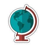 Cartoon globe world map icon Royalty Free Stock Image