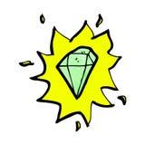 cartoon glowing gem Stock Images