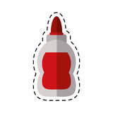 Cartoon glue school supply design Stock Photo