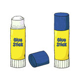 Cartoon glue stick  on white. Vector illustration Royalty Free Stock Photo