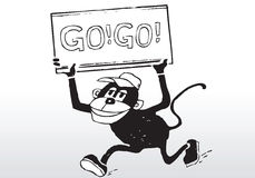 Cartoon go go sign Royalty Free Stock Photo
