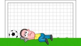 Cartoon Goalkeeper Angry Stock Photos