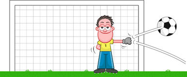 Cartoon Goalkeeper Def...