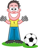 Cartoon Goalkeeper Laughing Royalty Free Stock Photos