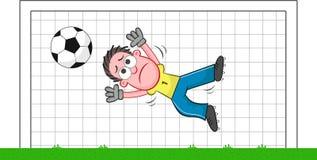 Cartoon Goalkeeper Sad Stock Image