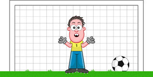 Cartoon Goalkeeper Surprised Stock Image