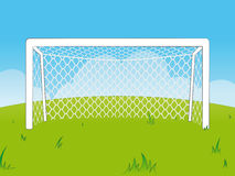 Cartoon goalposts with a net Stock Photos
